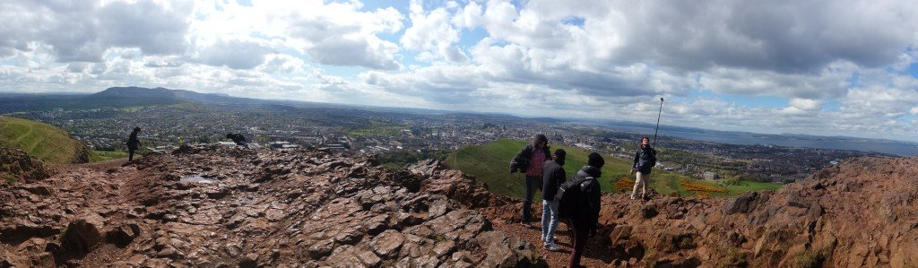 Holyrood Park Panorama view from Arthur's Seat