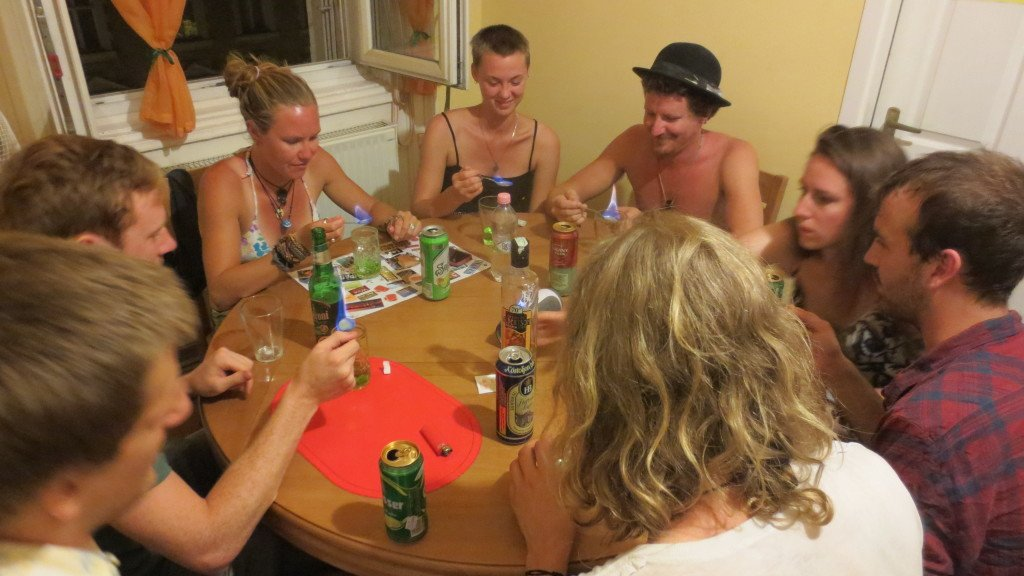 Absynthe and Alcohol Party at Hostel