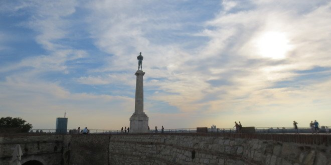 Belgrade Fortress Statue at Dusk