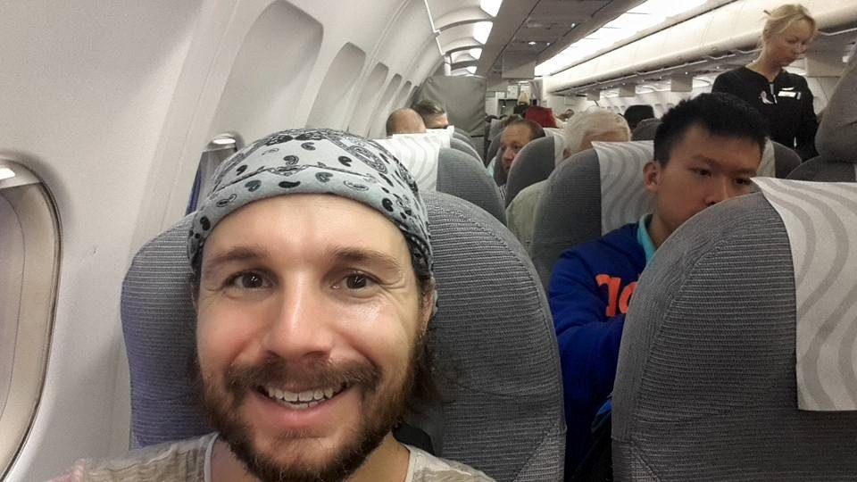 Selfie on Plane