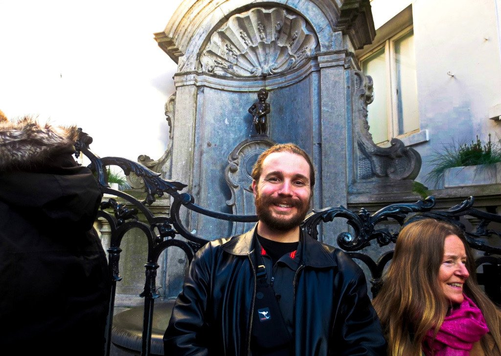 Selfie with Manneken Pis