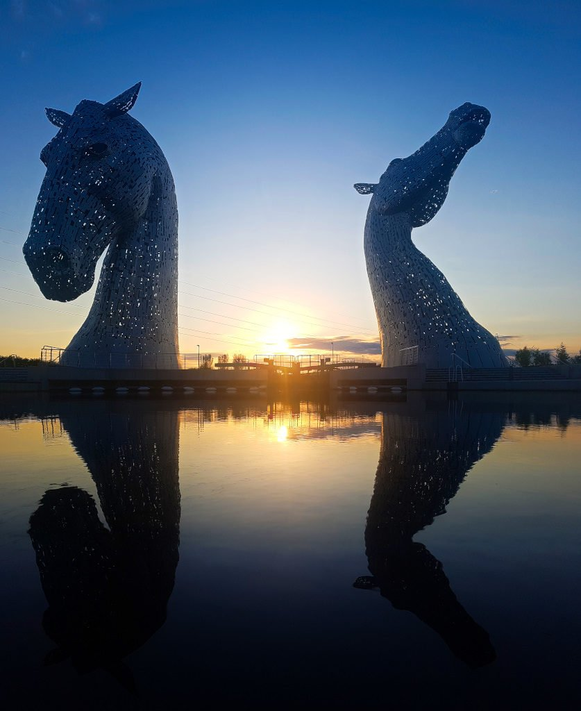 Kelpies with Refliection