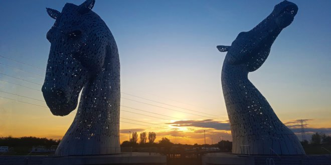 The Kelpies at the Helix Park