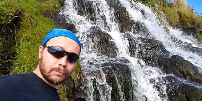 Selfie without a Smile by Storr Waterfall