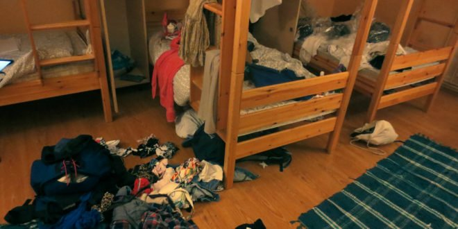 Messy Hostel Room (Bad Hostel)