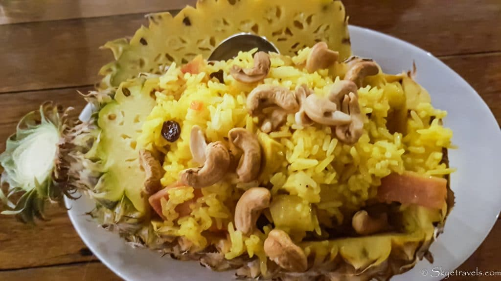 Pineapple Fried Rice on Koh Chang