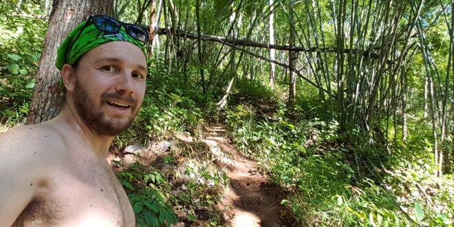 Selfie at Pai Waterfall
