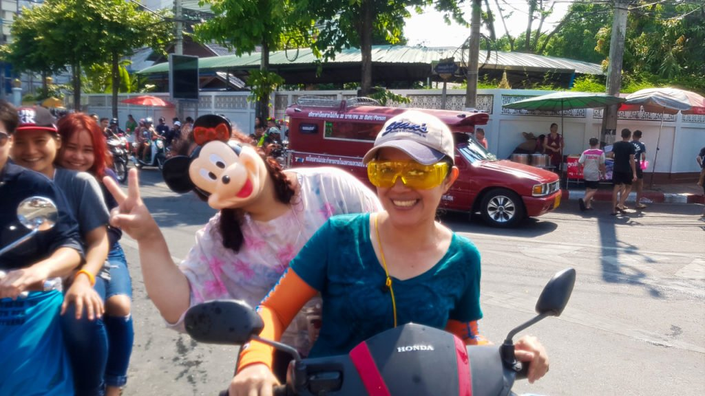 Mickey Face Mask at Songkran