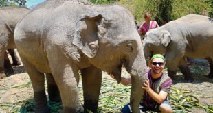 Selfie at Elephant Jungle Sanctuary #2
