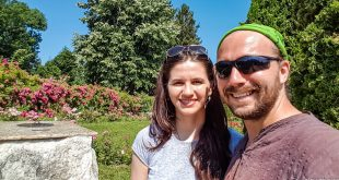 Madalina and I at Cluj Botanical Gardens