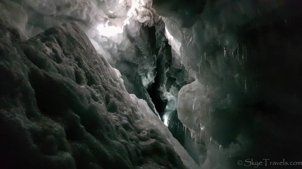 Into the Glacier Crevice