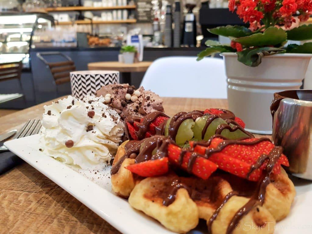 Chocolate Belgian Waffle at Chocolate Company
