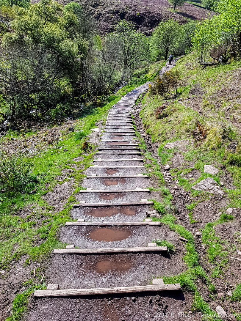 Stairs on Conic Hill
