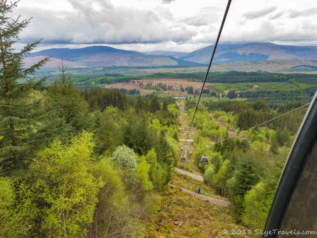 View from Gondola Ride at Nevis Range