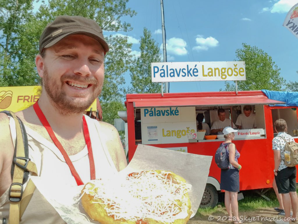Selfie with Colours of Ostrava Langos
