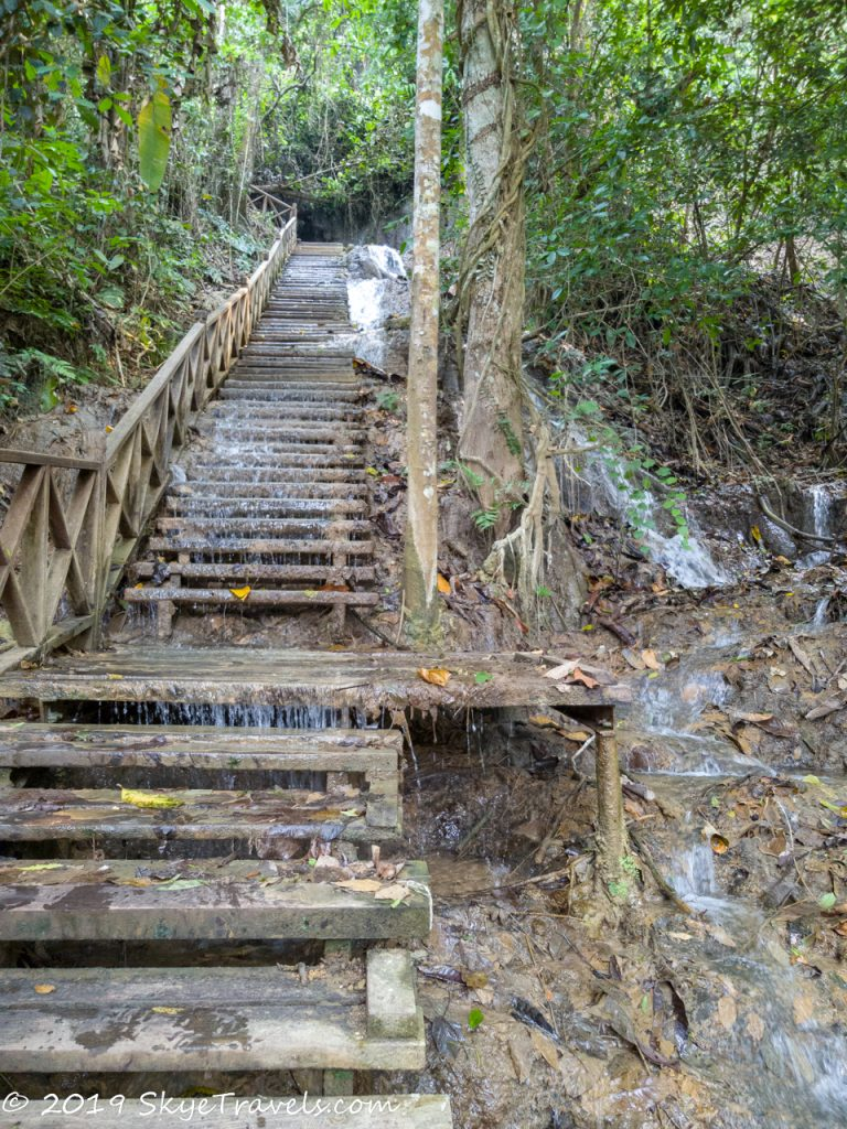 Kuang Si Waterfalls Stairs
