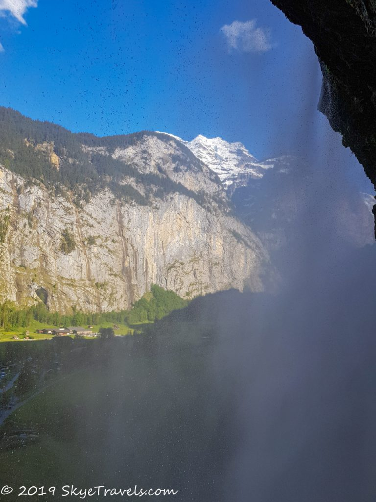 The View Behind Staubbach Waterfall