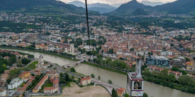 View of Trento from Funicular