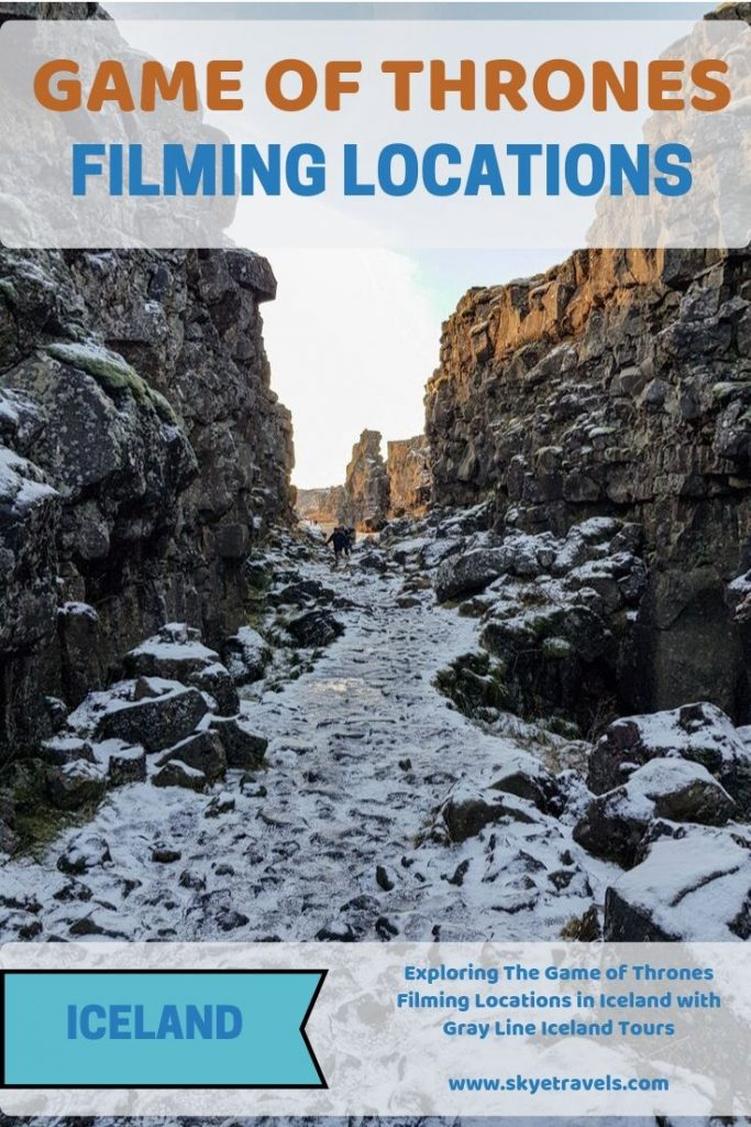 Game of Thrones FIlming Locations in Iceland Pin