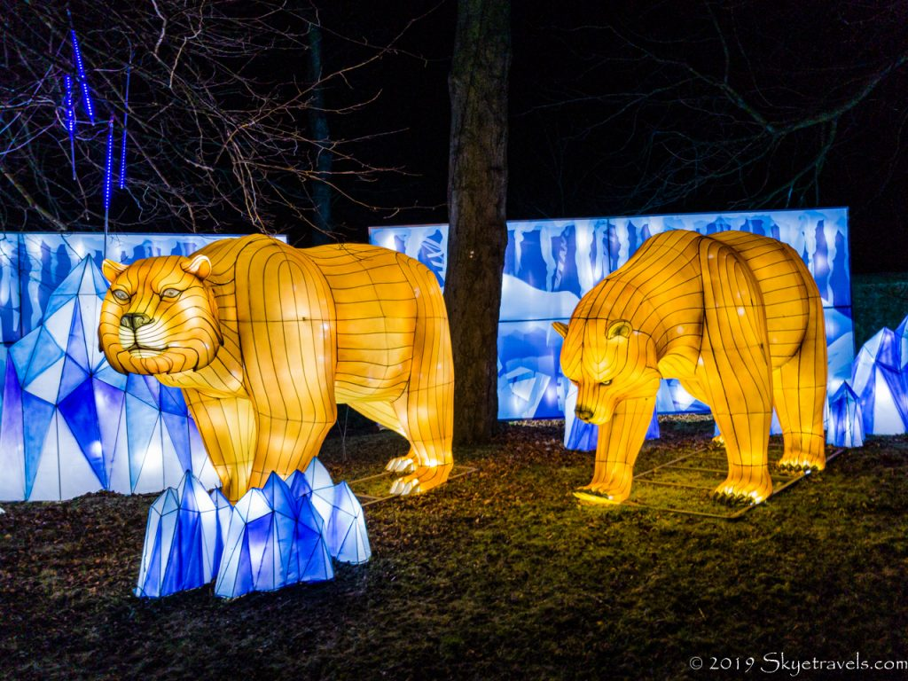 Bears in the Ice Age Lanterns