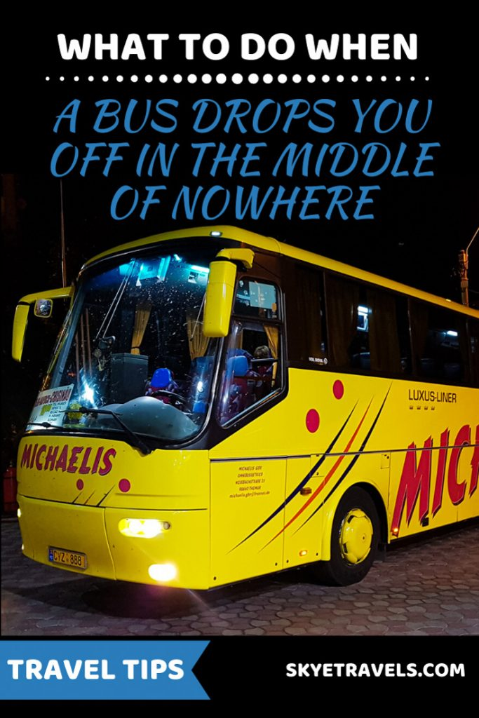Bus Drops You Off in the Middle of Nowhere Pin