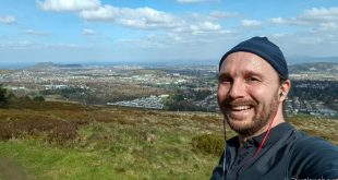 Selfie on the Pentlands (Best Hikes and Walks in Edinburgh Cover)