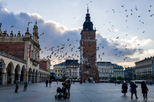 Big Market Square in the Krakow Old Town