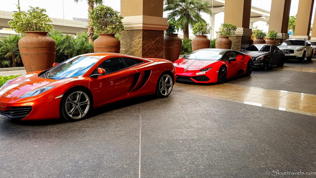 Luxury Car Park at Mall of the Emirates