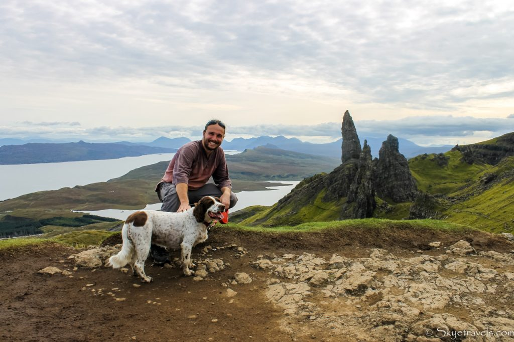 Selfie with Housesit Dog at Old Man of Storr