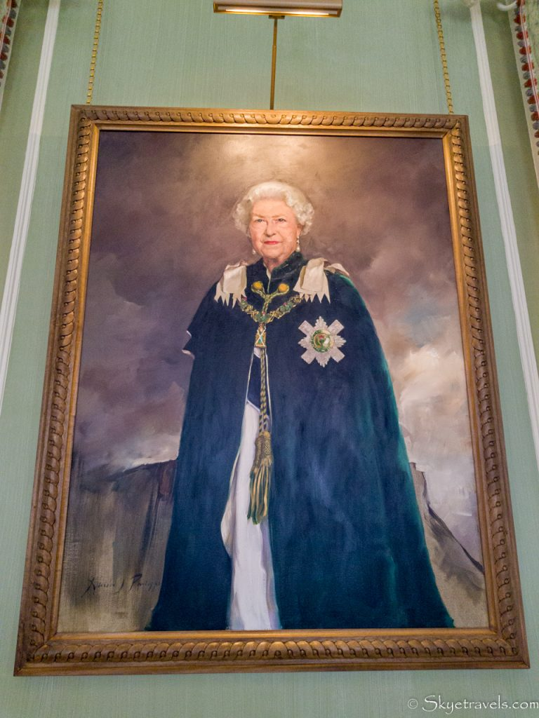 Queen's Portrait in Holyrood Palace Royal Dining Room
