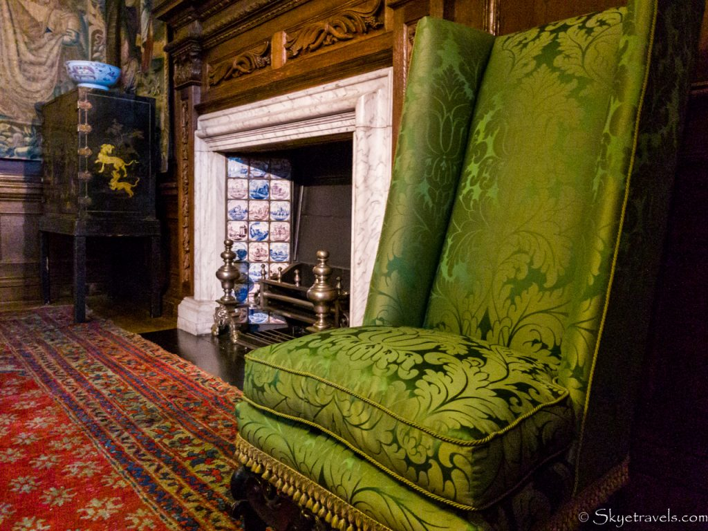 Holyrood Palace King's Closet Seat and Fireplace