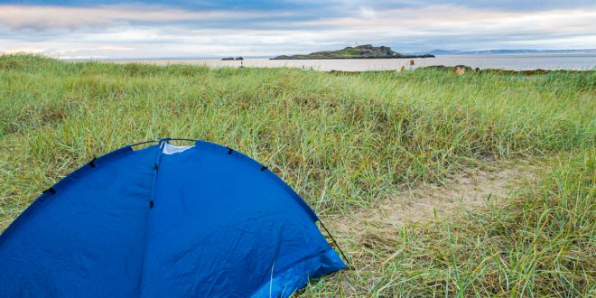 Wild Camping at Yellowcraig Beach