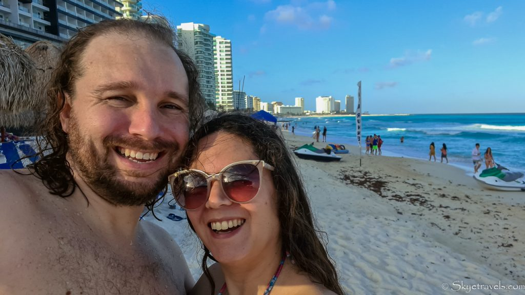 My First Impression of Cancun and it's Turquoise Beach 1