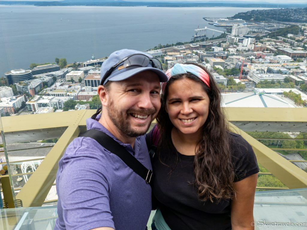 Seflie with Vanesa from Space Needle