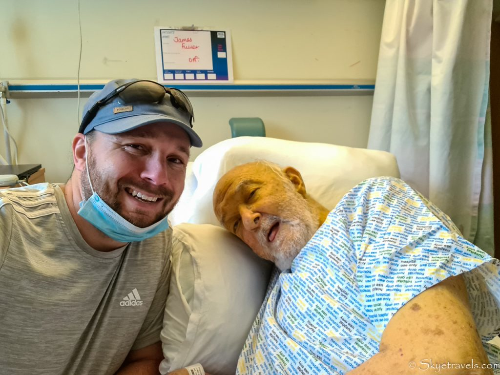 Selfie with Dad in Hospital