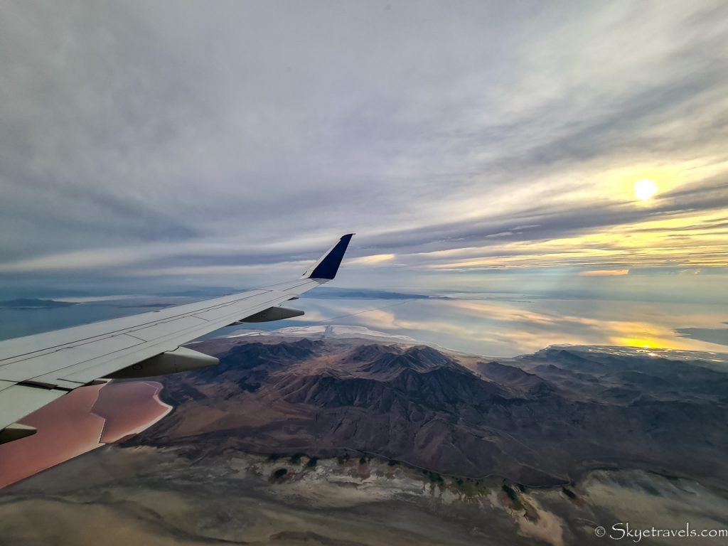 View from Plane of The Great Salt Lake