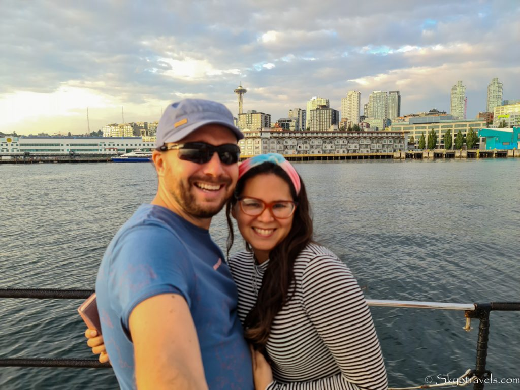 Selfie with Vanesa on Seattle's Tall Ship